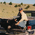 Chub Anderson with a buffalo he shot in Montana