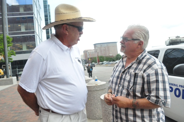The Original Buffalo Dale with Steve Davis outside the federal courthouse in Boston. Steve has his own story to tell about the Winter Hill Gang in his forthcoming book.